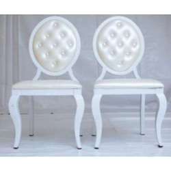 Buttoned Louis Chairs