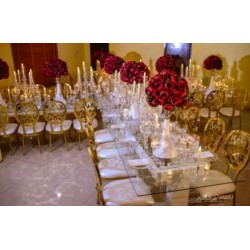 Glass Banquet Table